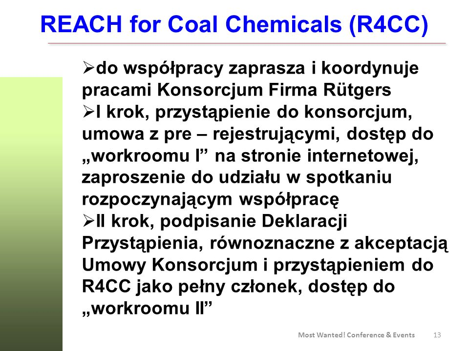 REACH for Coal Chemicals (R4CC)