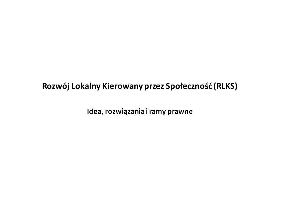 Rozwój Lokalny Kierowany przez Społeczność (RLKS)