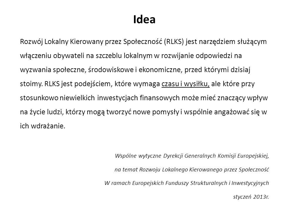 Idea Podstawy wdrażania RLKS na poziomie UE