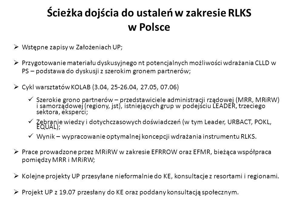 Ścieżka dojścia do ustaleń w zakresie RLKS w Polsce