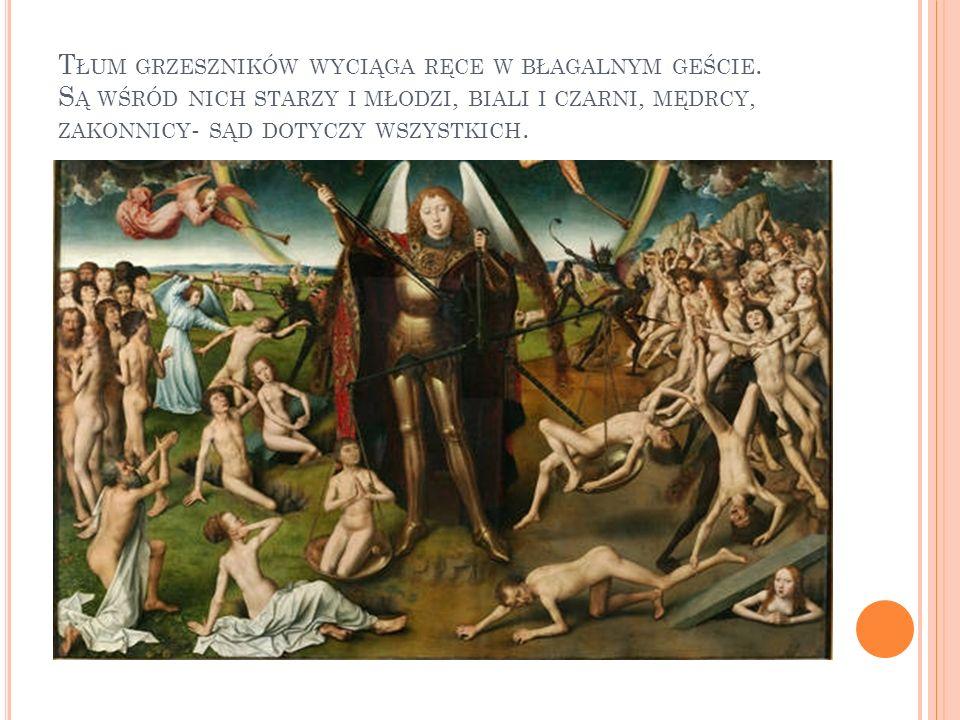 Tłum grzeszników wyciąga ręce w błagalnym geście
