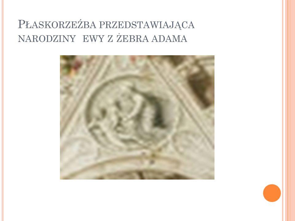 Płaskorzeźba przedstawiająca narodziny ewy z żebra adama
