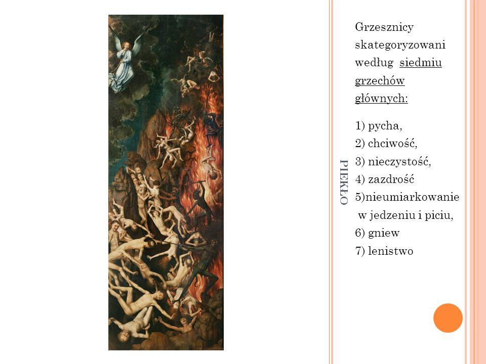 piekło Grzesznicy skategoryzowani według siedmiu grzechów głównych: