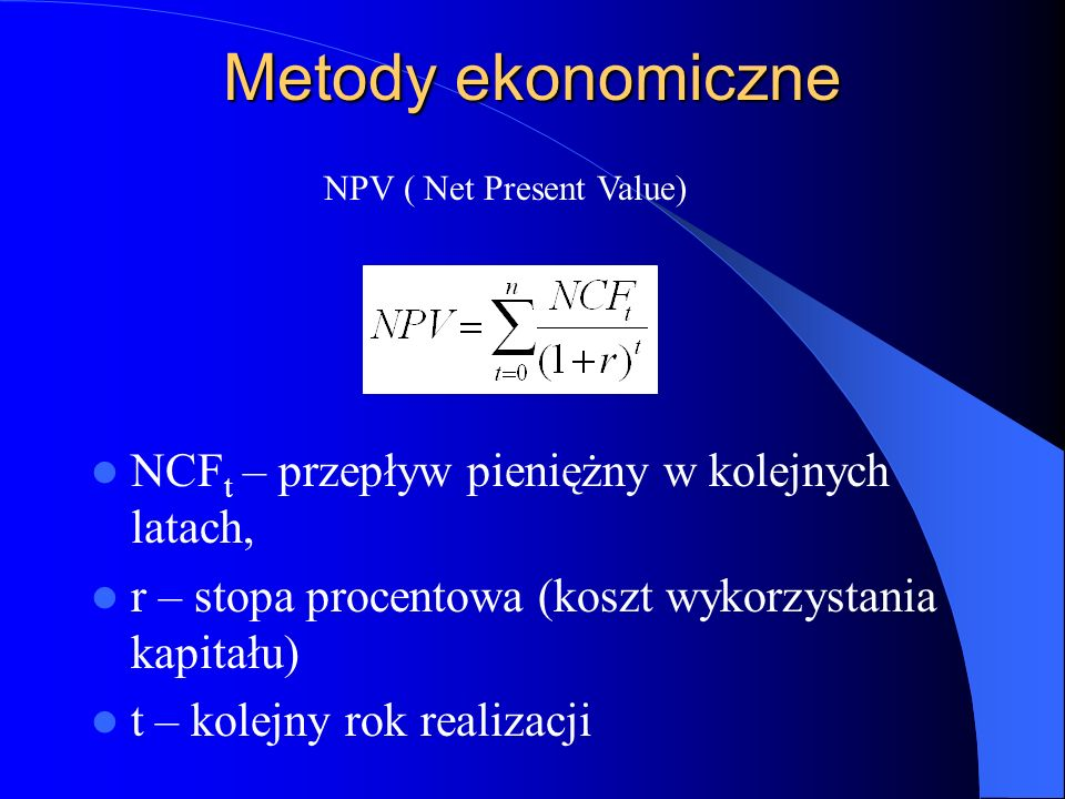 NPV ( Net Present Value)