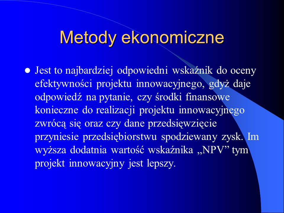 Metody ekonomiczne