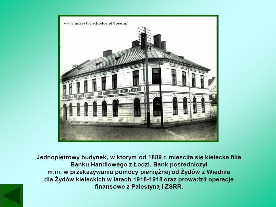 Jednopiętrowy budynek, w którym od 1889 r