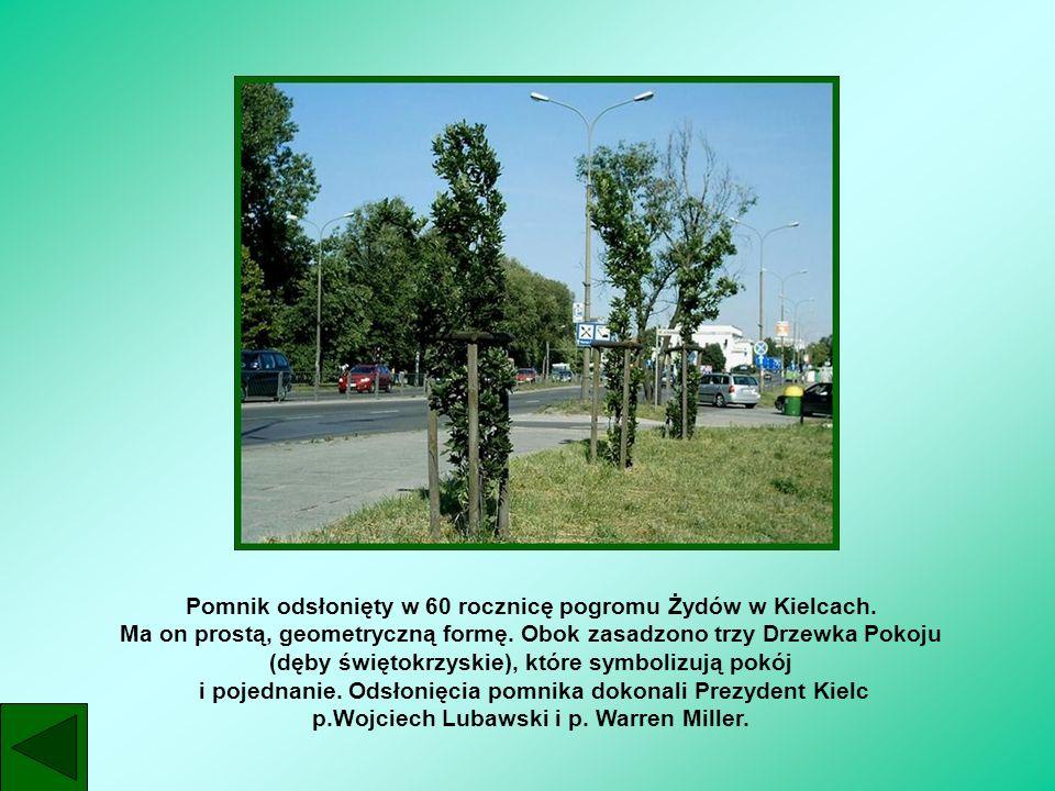 Pomnik odsłonięty w 60 rocznicę pogromu Żydów w Kielcach