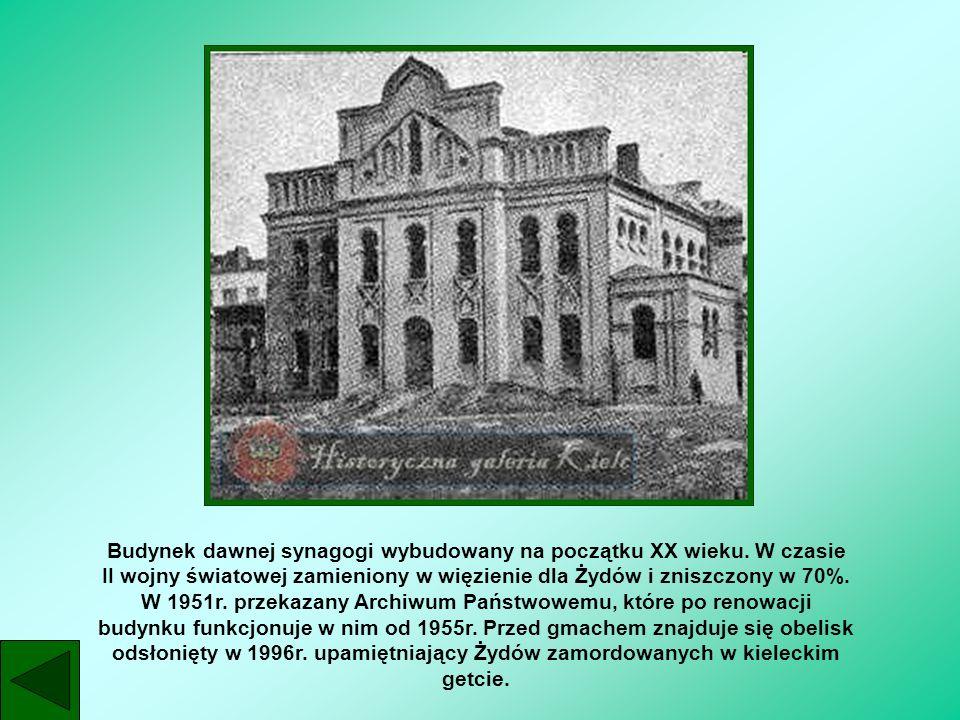 Budynek dawnej synagogi wybudowany na początku XX wieku