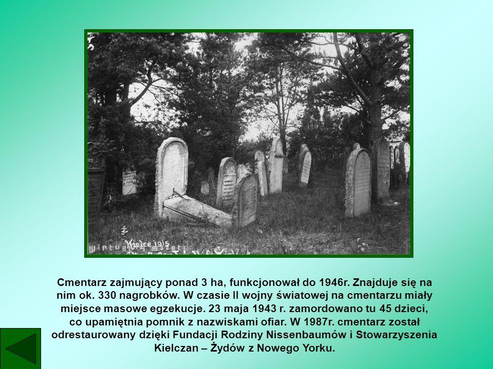 Cmentarz zajmujący ponad 3 ha, funkcjonował do 1946r