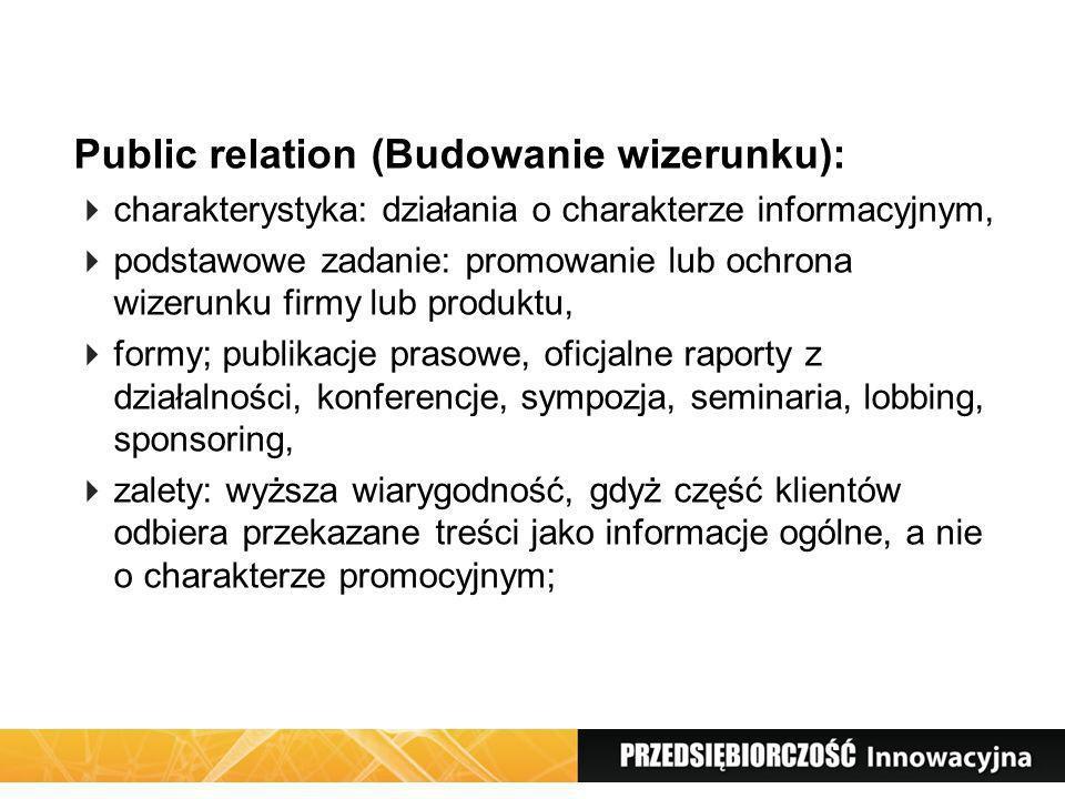 Public relation (Budowanie wizerunku):