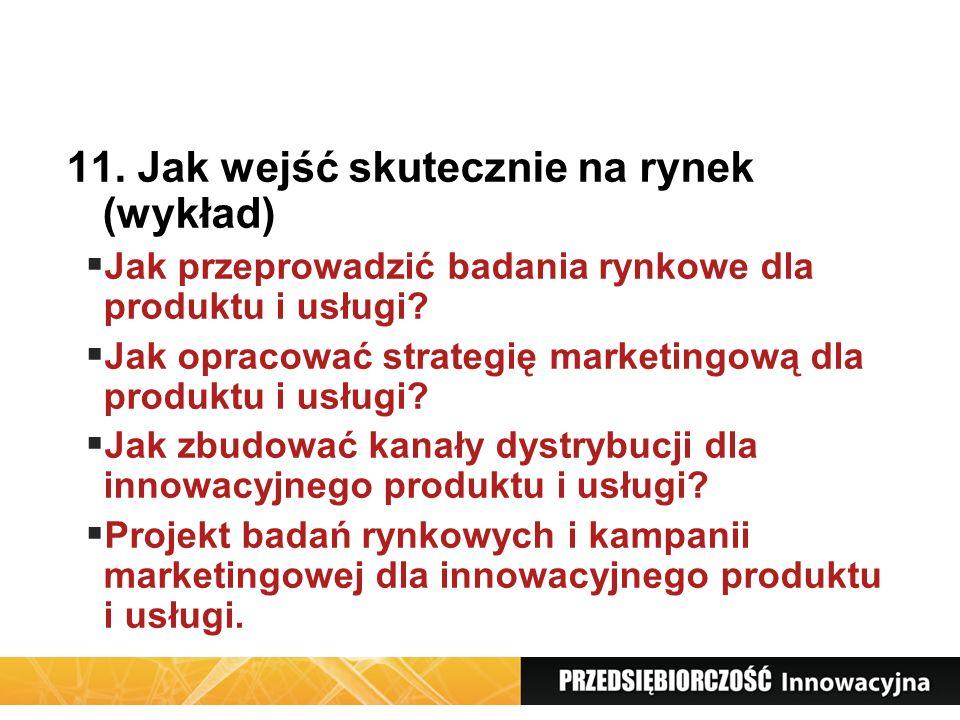 11. Jak wejść skutecznie na rynek (wykład)