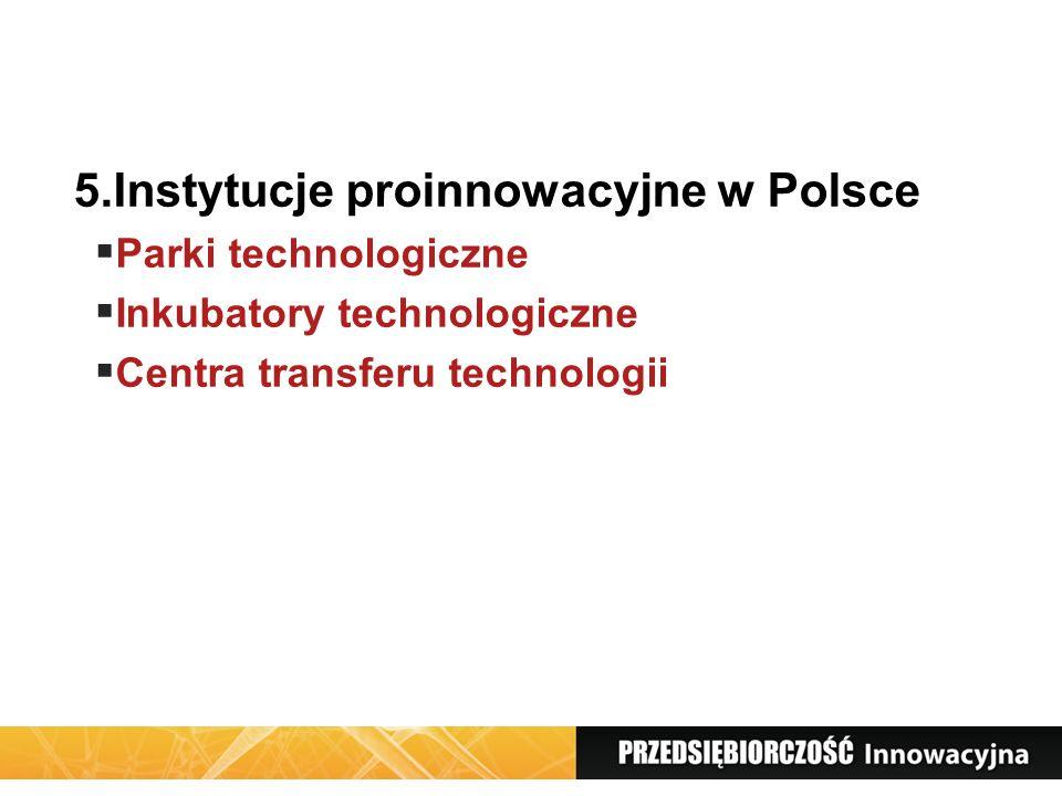 5.Instytucje proinnowacyjne w Polsce