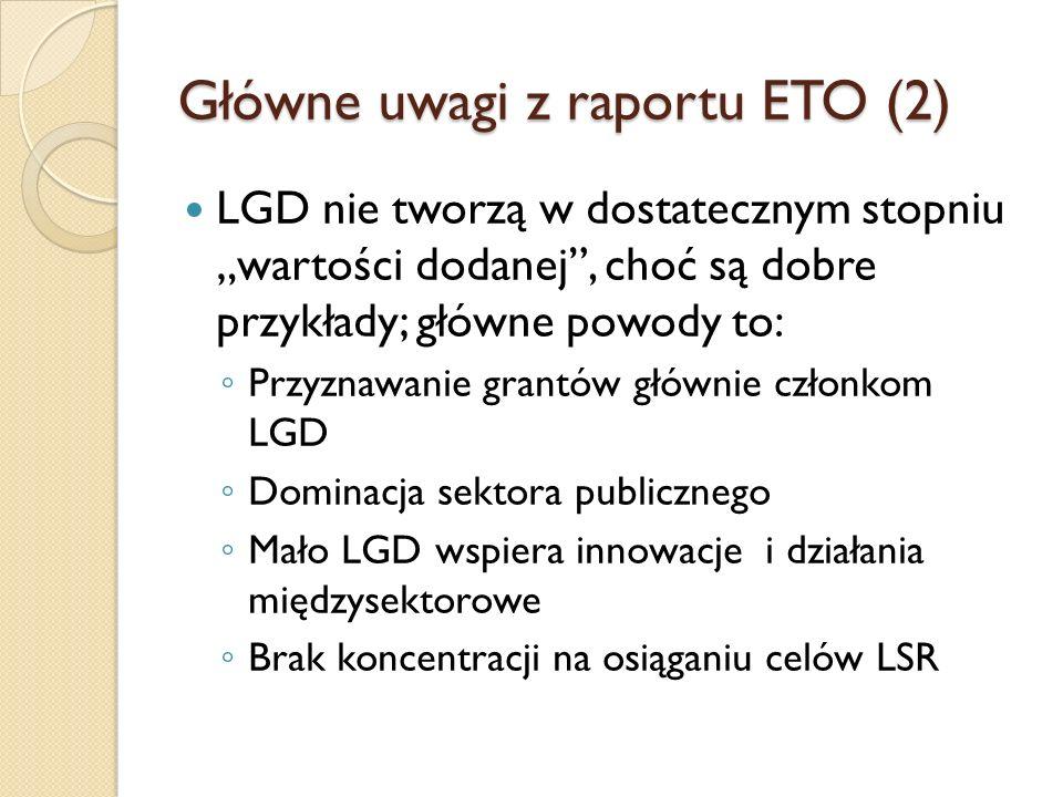 Główne uwagi z raportu ETO (2)