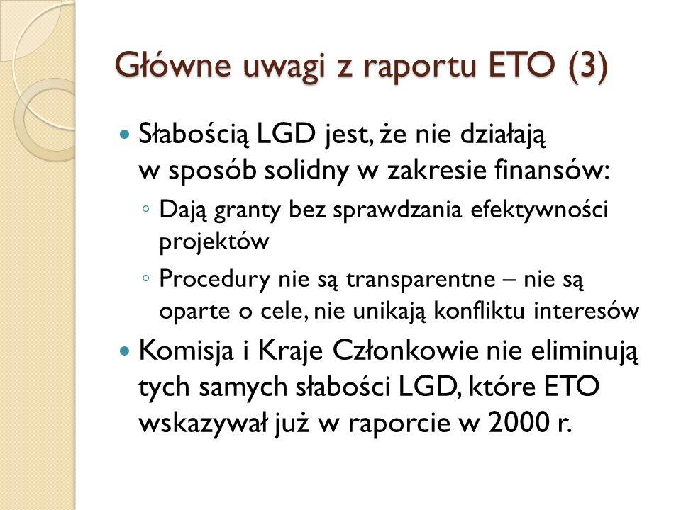 Główne uwagi z raportu ETO (3)