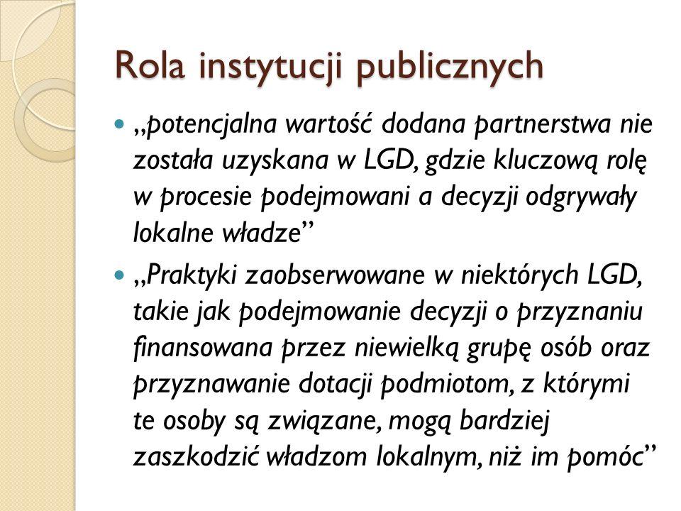 Rola instytucji publicznych