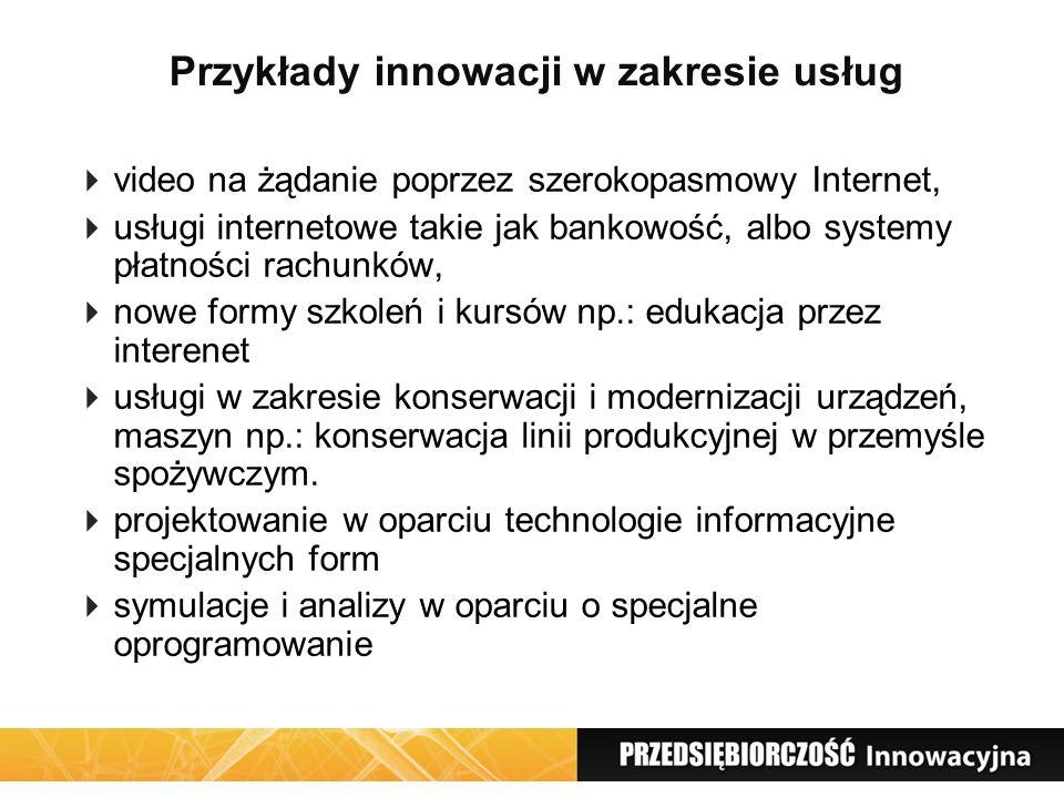 Przykłady innowacji w zakresie usług