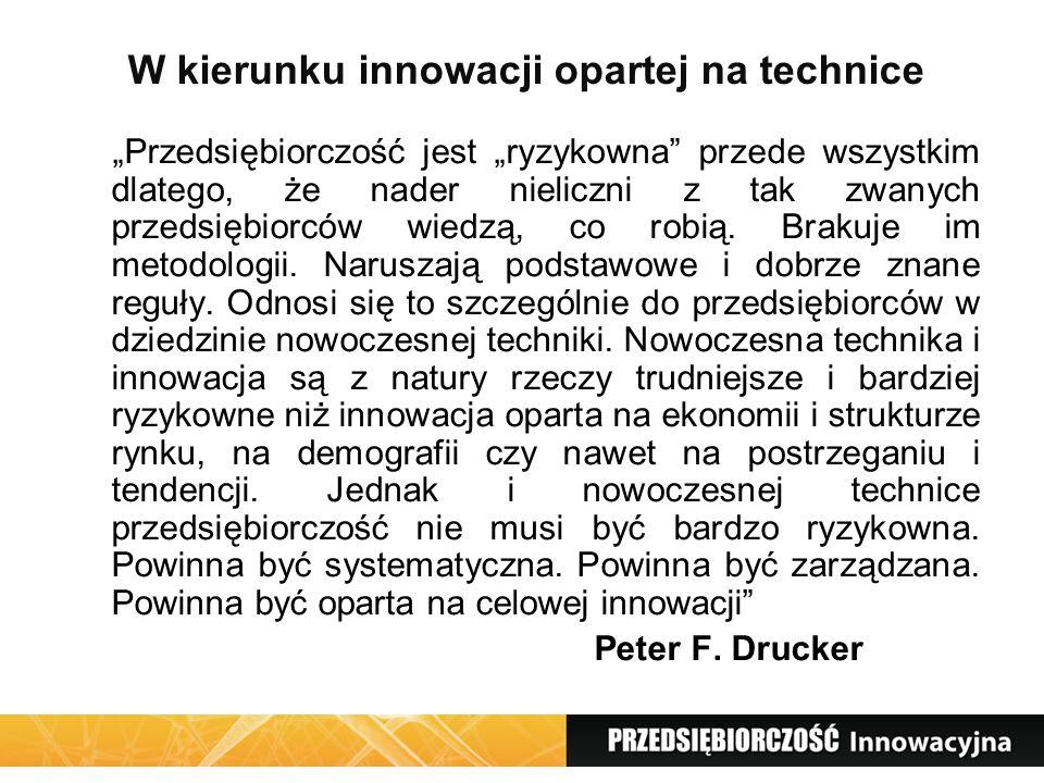 W kierunku innowacji opartej na technice