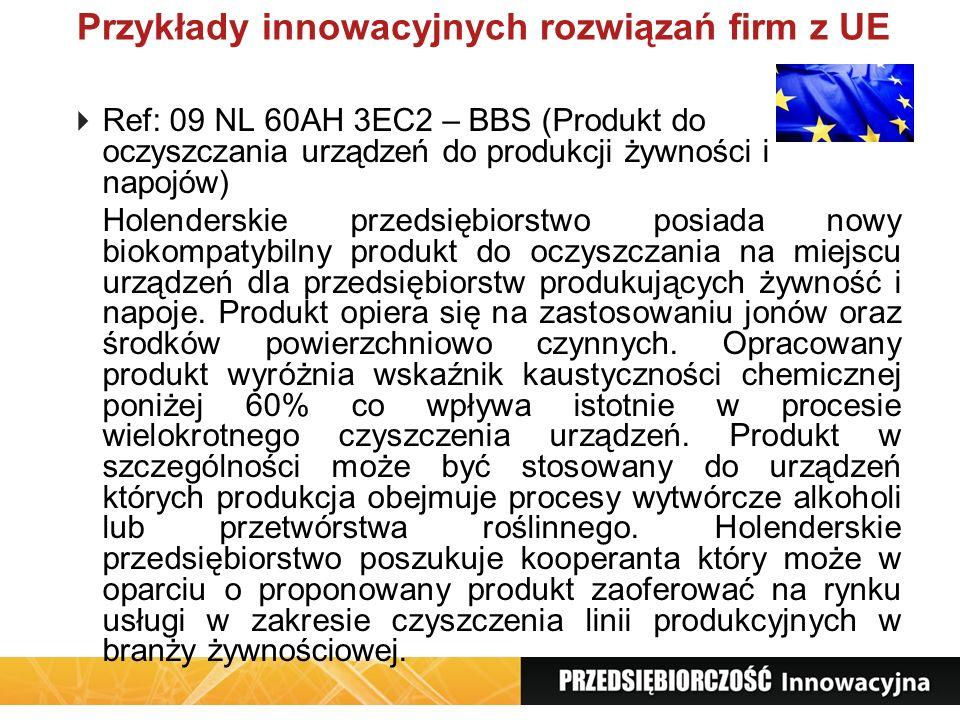 Przykłady innowacyjnych rozwiązań firm z UE