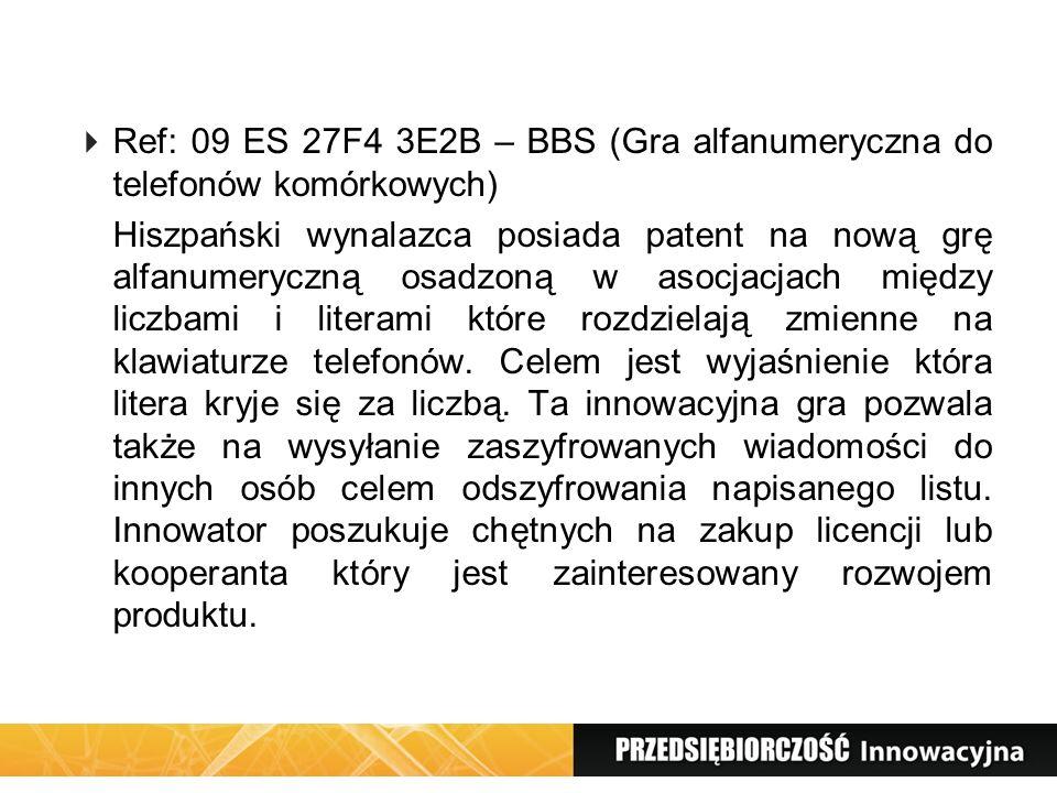 Ref: 09 ES 27F4 3E2B – BBS (Gra alfanumeryczna do telefonów komórkowych)