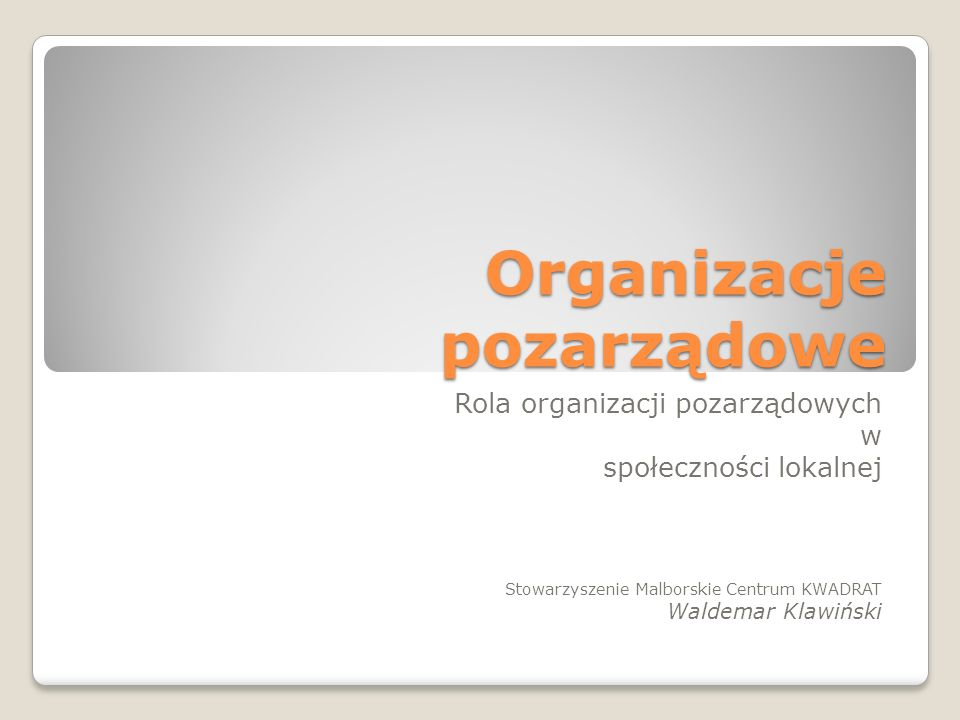 Organizacje pozarządowe