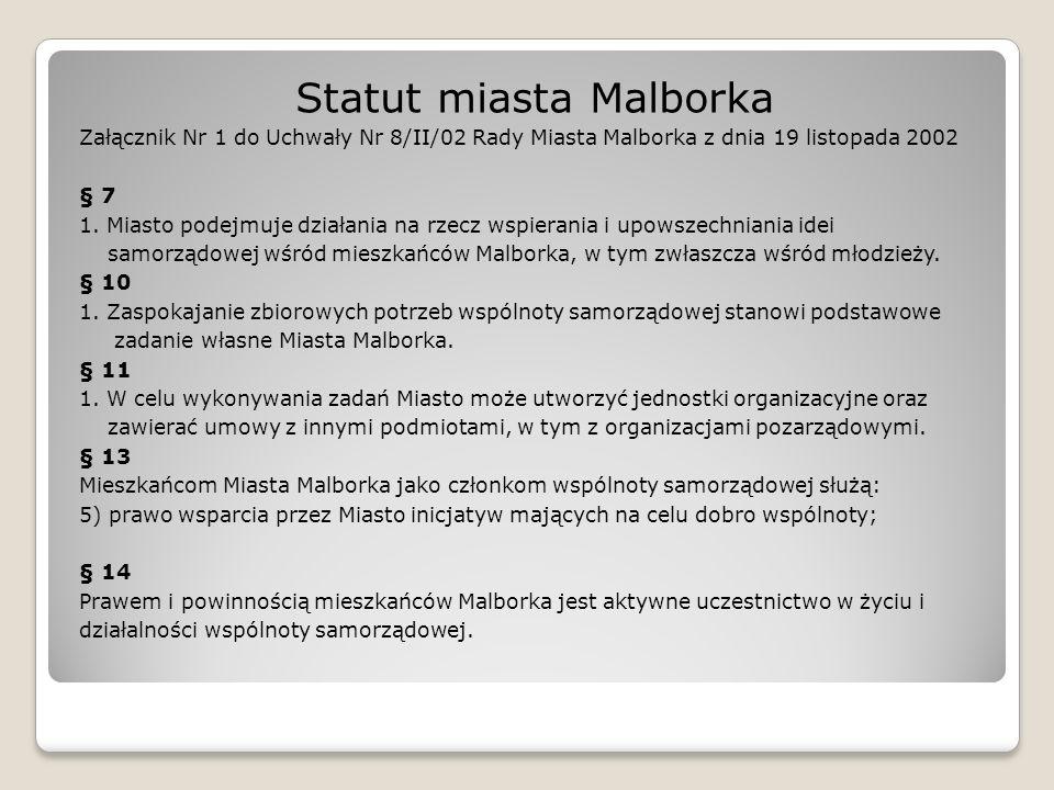 Statut miasta Malborka