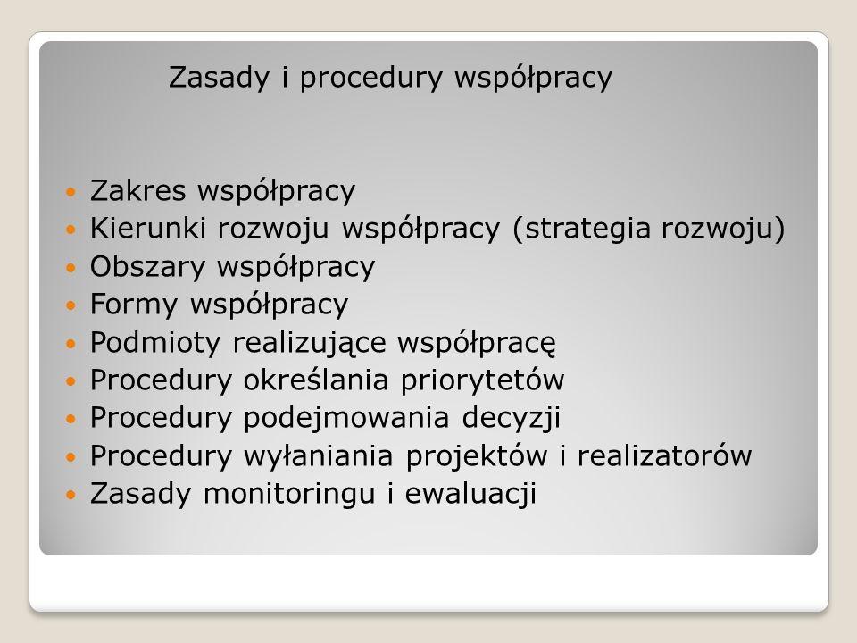 Zasady i procedury współpracy