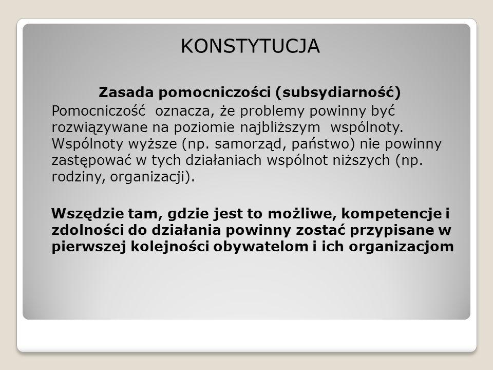 Zasada pomocniczości (subsydiarność)
