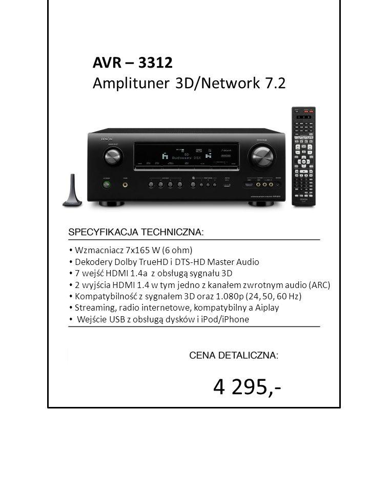 4 295,- AVR – 3312 Amplituner 3D/Network 7.2