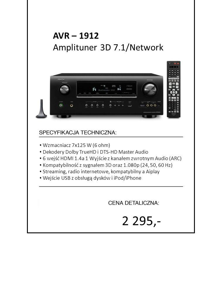 2 295,- AVR – 1912 Amplituner 3D 7.1/Network