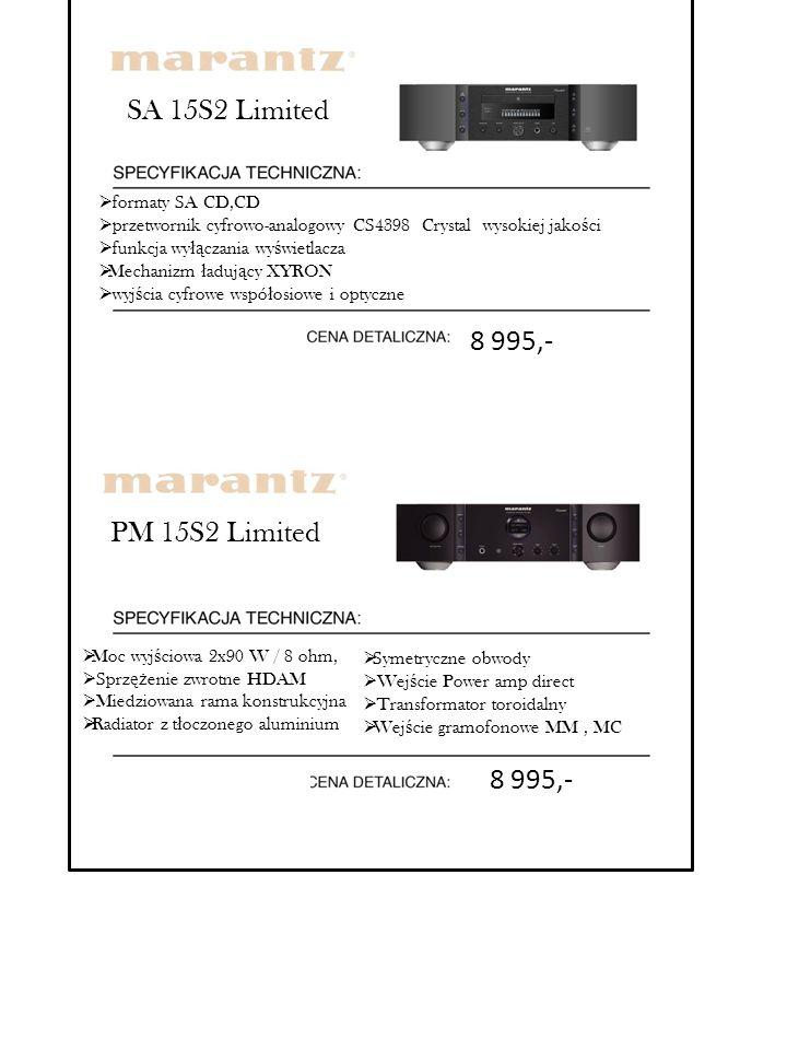 SA 15S2 Limited 8 995,- PM 15S2 Limited 8 995,- formaty SA CD,CD