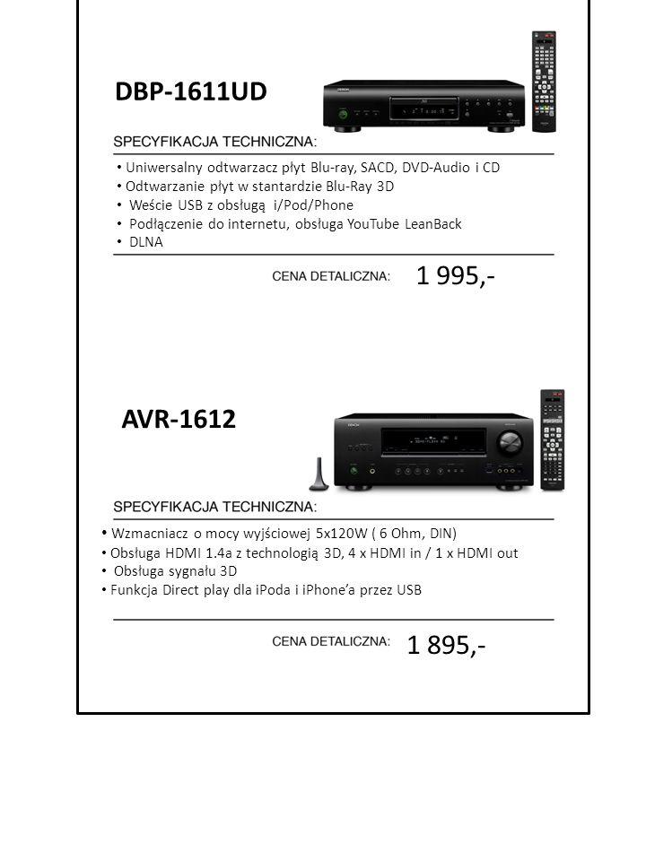 DBP-1611UD Uniwersalny odtwarzacz płyt Blu-ray, SACD, DVD-Audio i CD. Odtwarzanie płyt w stantardzie Blu-Ray 3D.