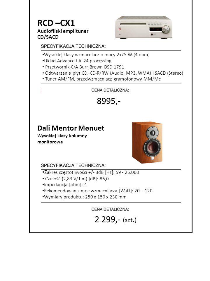 RCD –CX1 8995,- 2 299,- (szt.) Dali Mentor Menuet