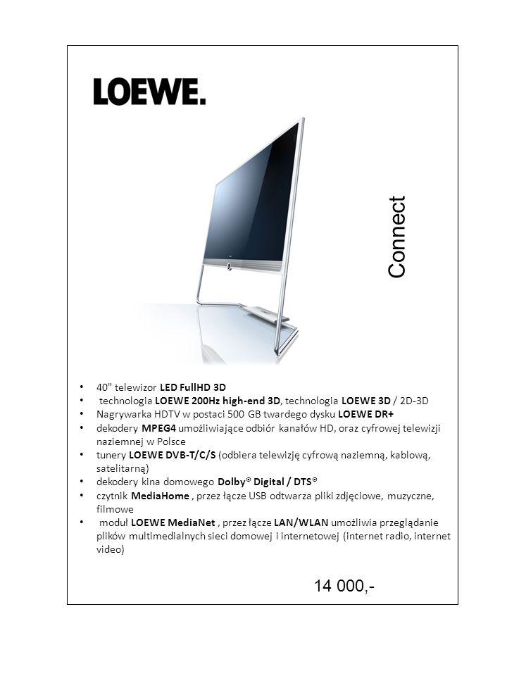 Connect 14 000,- 40 telewizor LED FullHD 3D