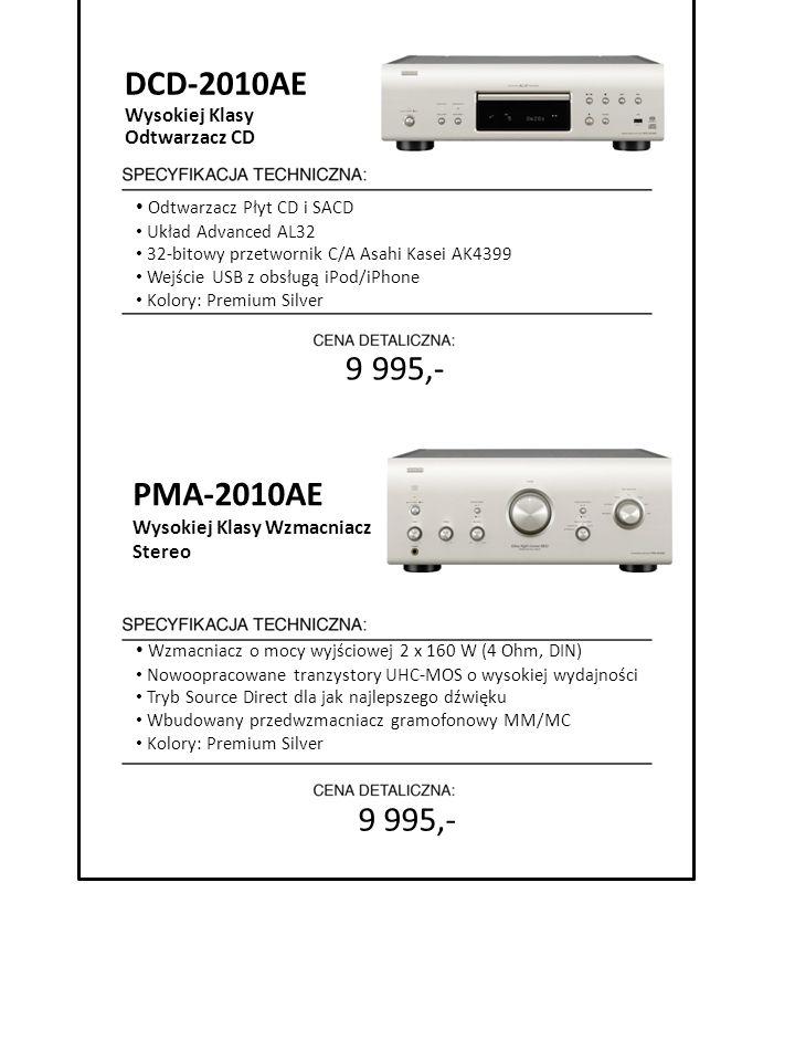 DCD-2010AE 9 995,- PMA-2010AE 9 995,- Wysokiej Klasy Odtwarzacz CD