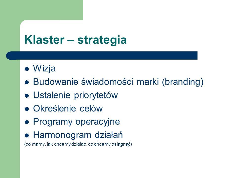 Klaster – strategia Wizja Budowanie świadomości marki (branding)