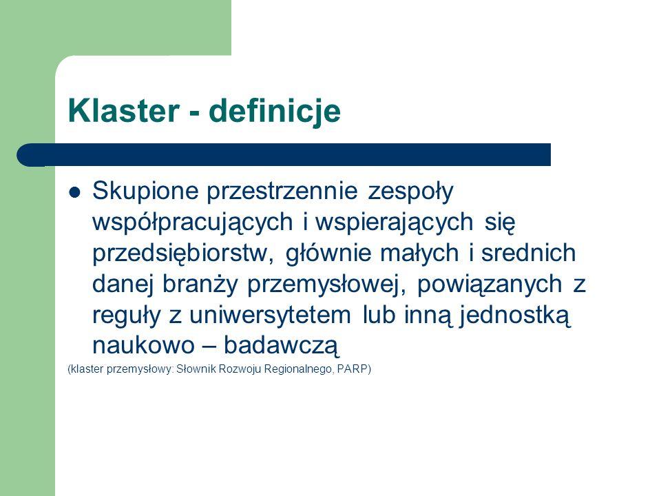 Klaster - definicje