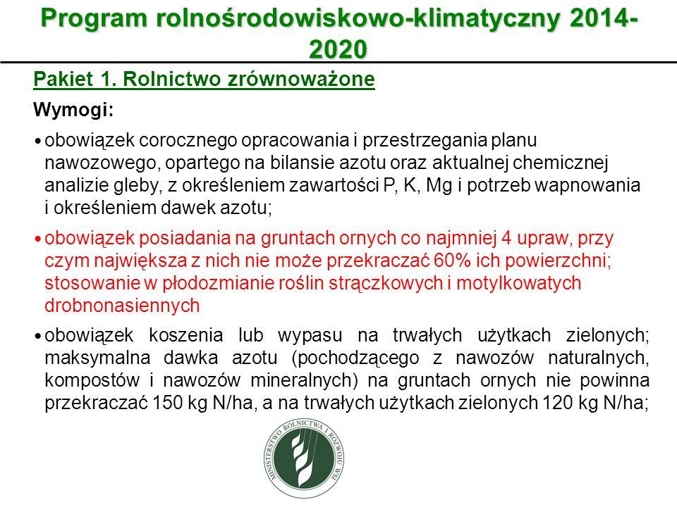 Program rolnośrodowiskowo-klimatyczny 2014-2020