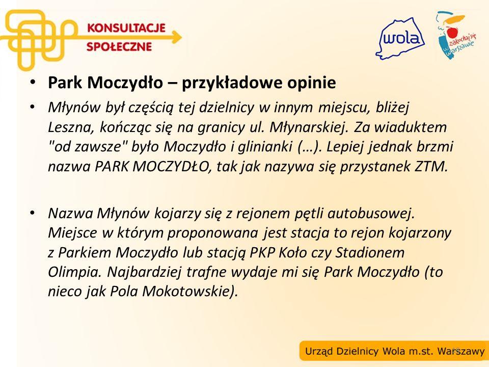 Park Moczydło – przykładowe opinie