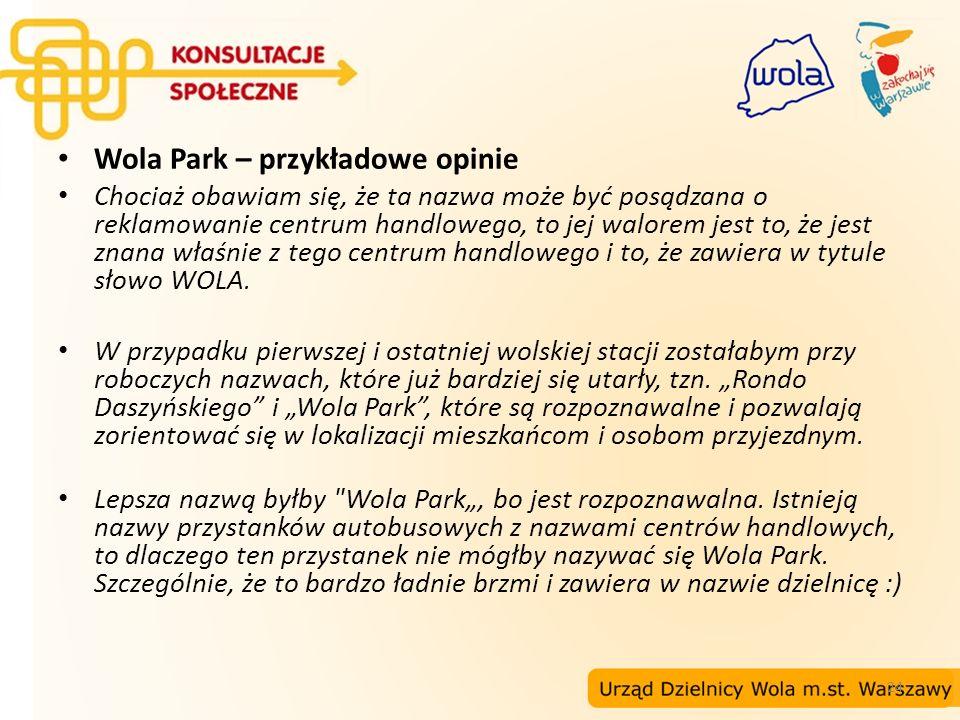 Wola Park – przykładowe opinie