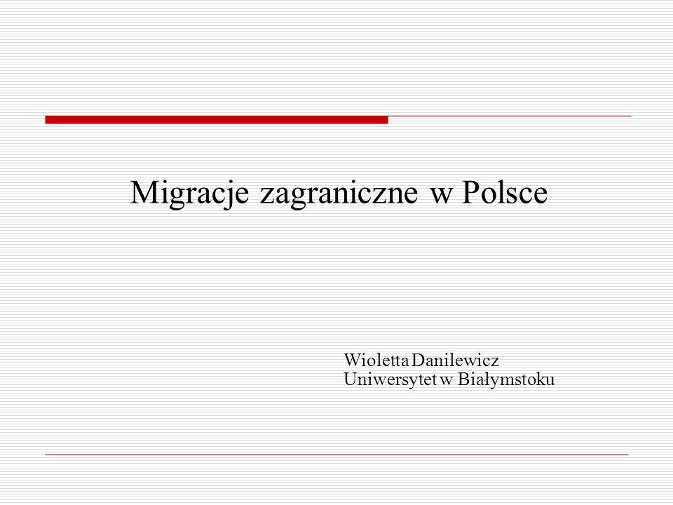 Migracje zagraniczne w Polsce