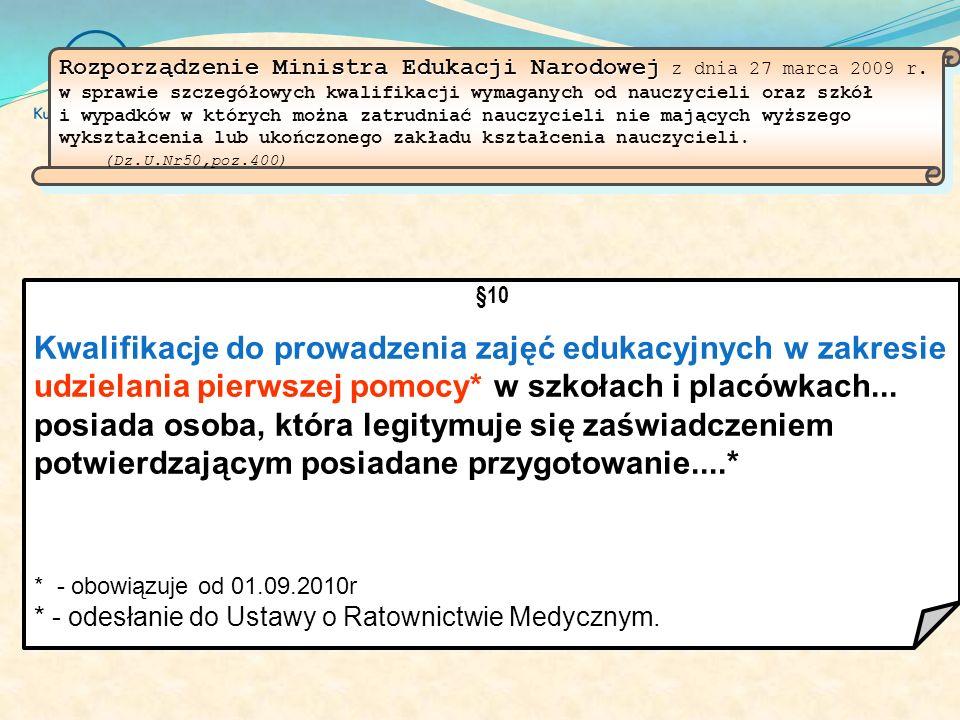 Rozporządzenie Ministra Edukacji Narodowej z dnia 27 marca 2009 r