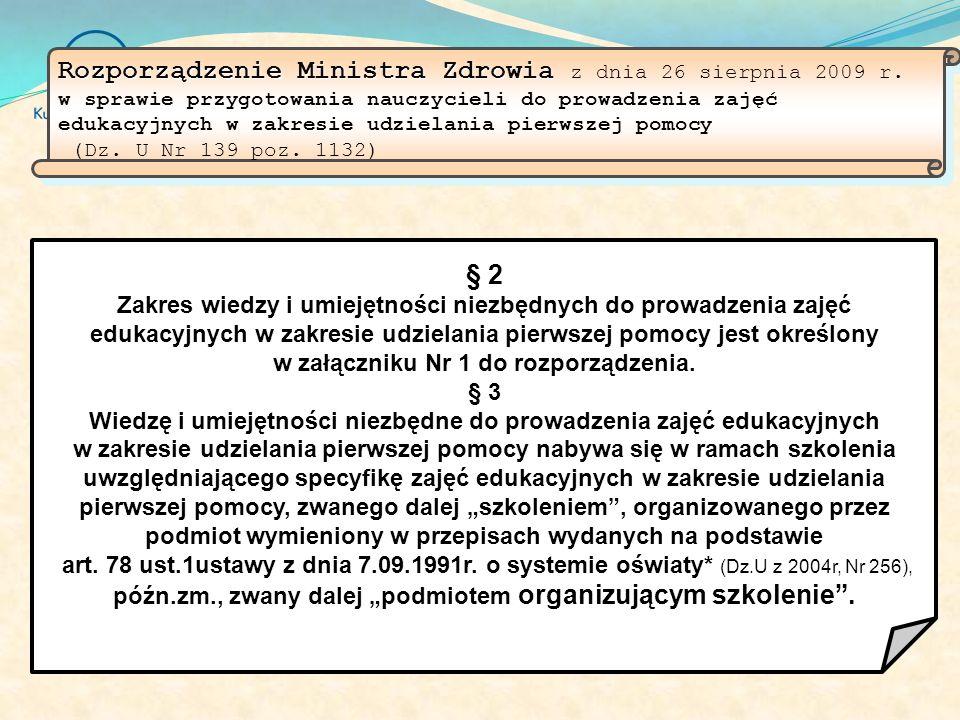 Rozporządzenie Ministra Zdrowia z dnia 26 sierpnia 2009 r
