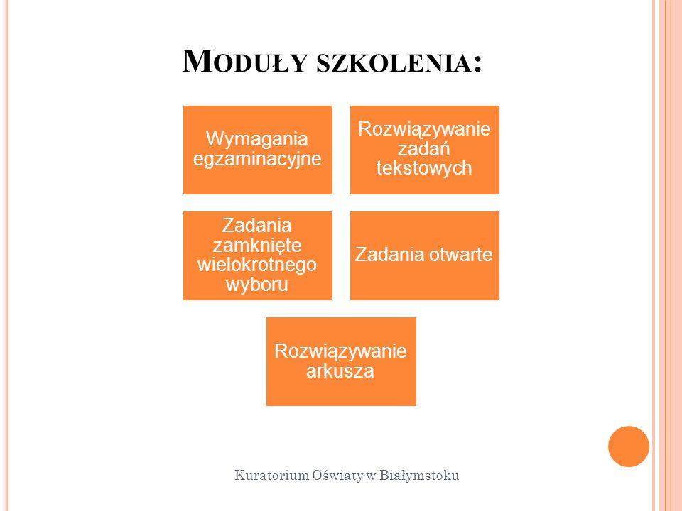 Moduły szkolenia: Kuratorium Oświaty w Białymstoku 14