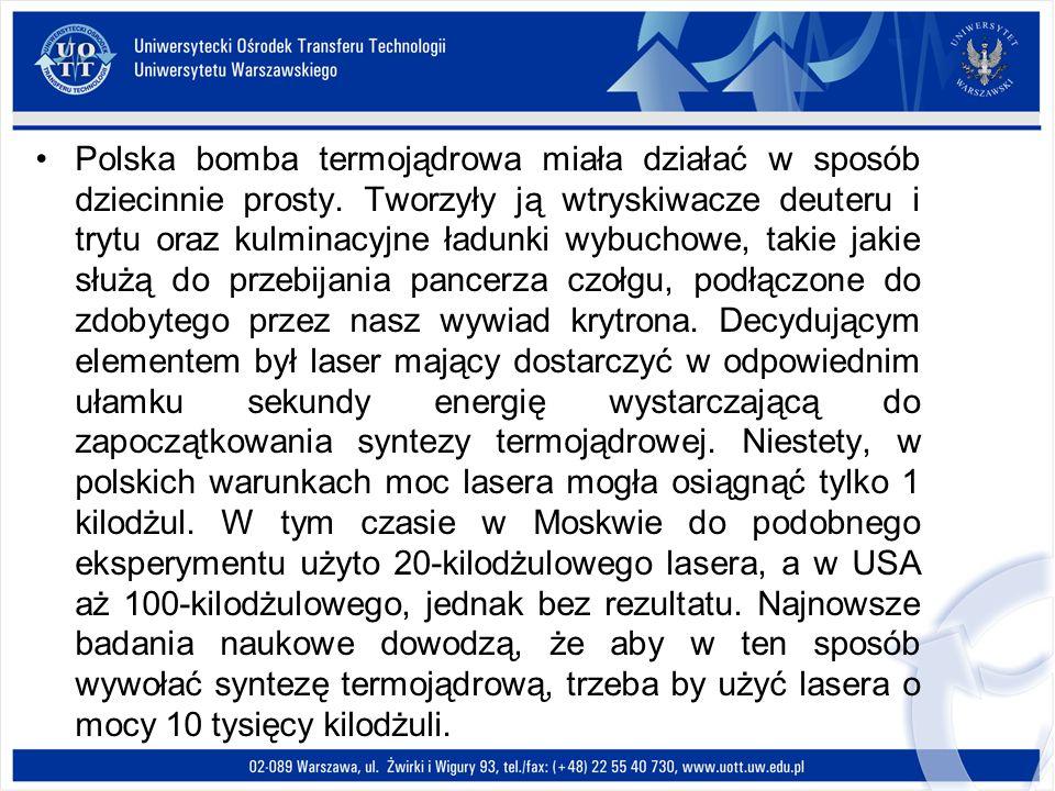 Polska bomba termojądrowa miała działać w sposób dziecinnie prosty