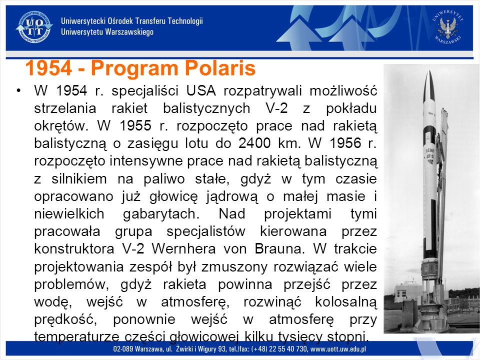 1954 - Program Polaris