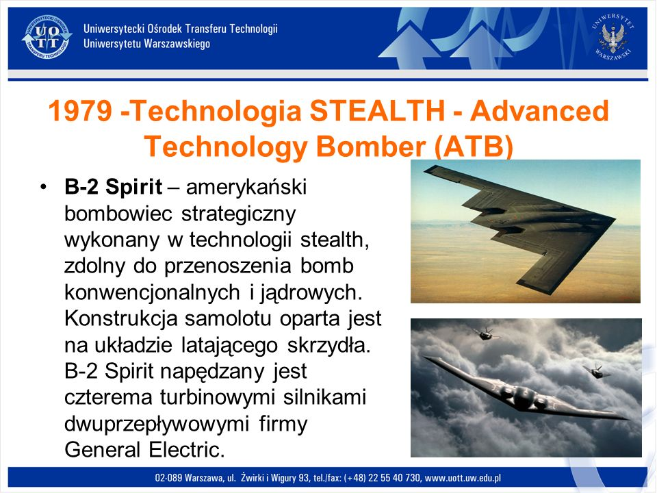 1979 -Technologia STEALTH - Advanced Technology Bomber (ATB)
