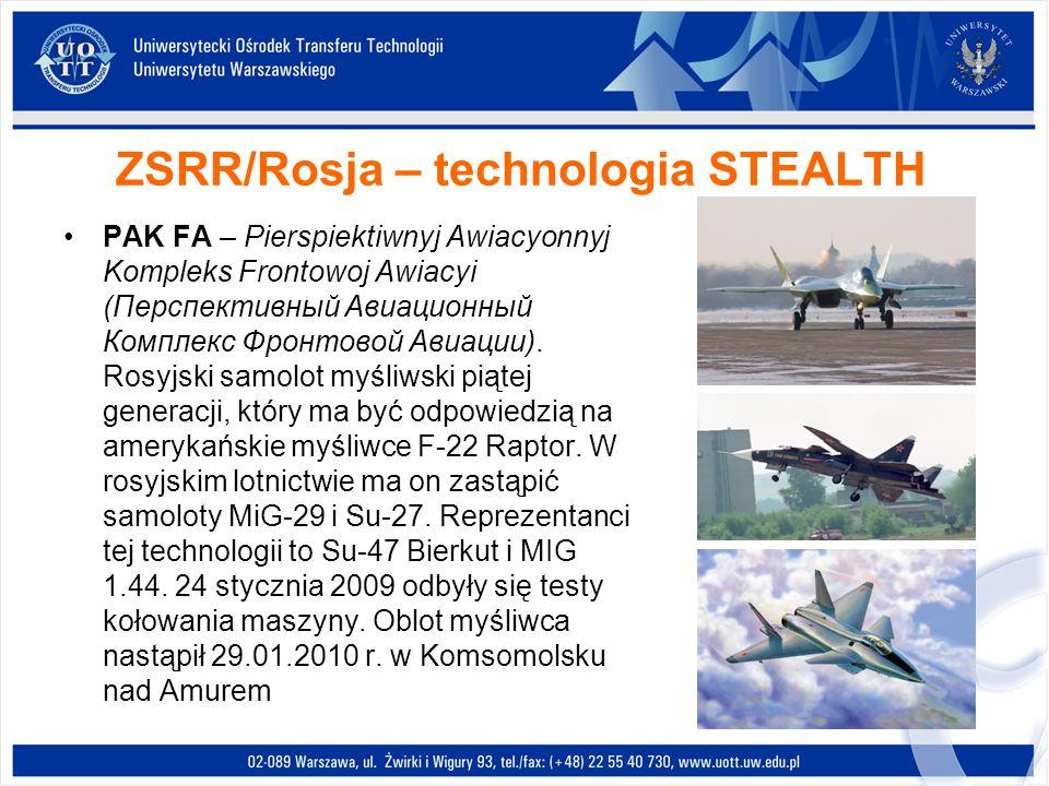 ZSRR/Rosja – technologia STEALTH