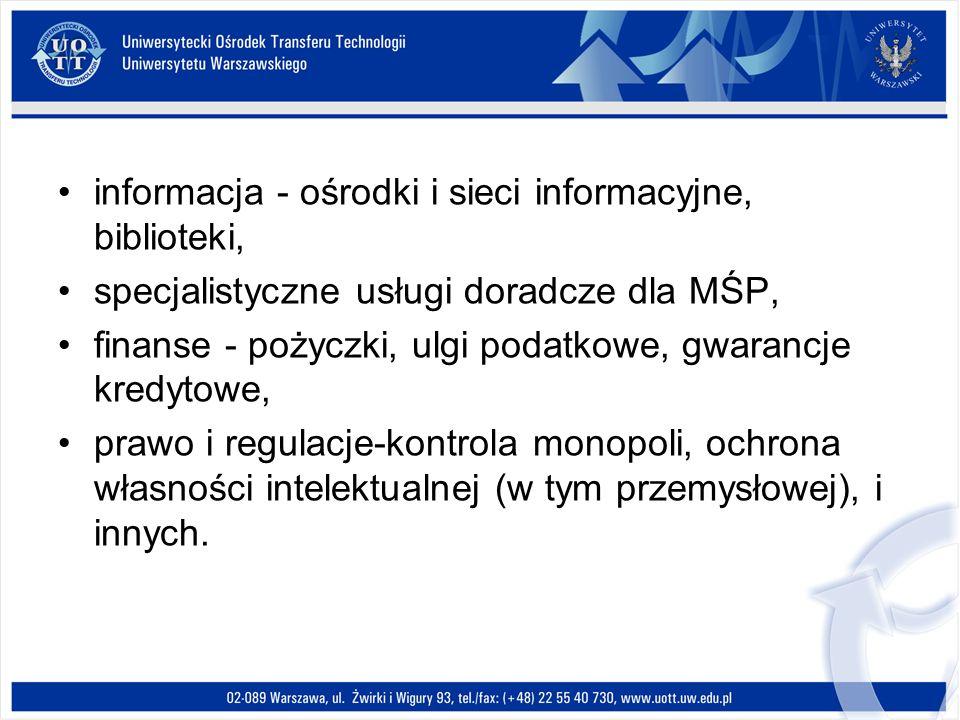 informacja - ośrodki i sieci informacyjne, biblioteki,