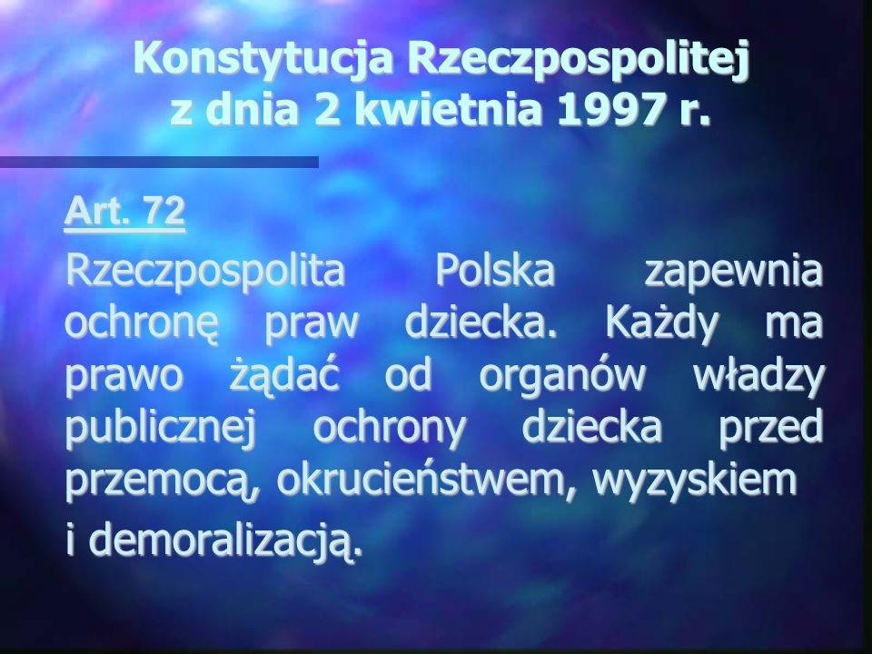 Konstytucja Rzeczpospolitej z dnia 2 kwietnia 1997 r.