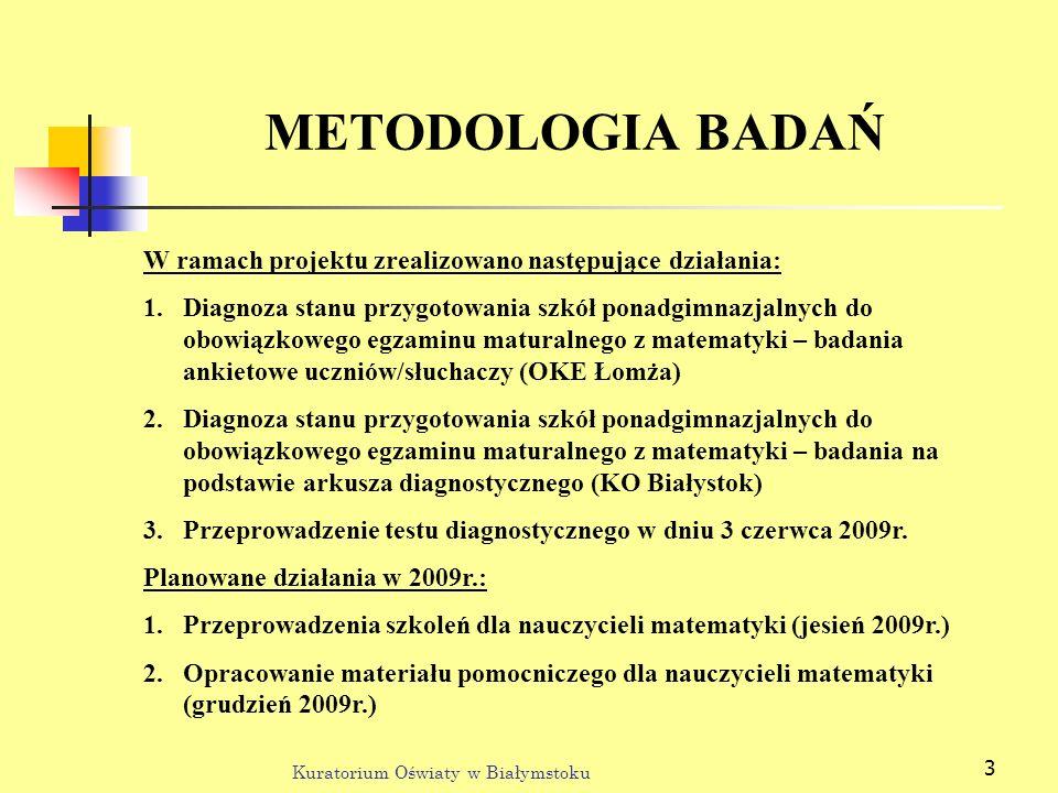 METODOLOGIA BADAŃ W ramach projektu zrealizowano następujące działania: